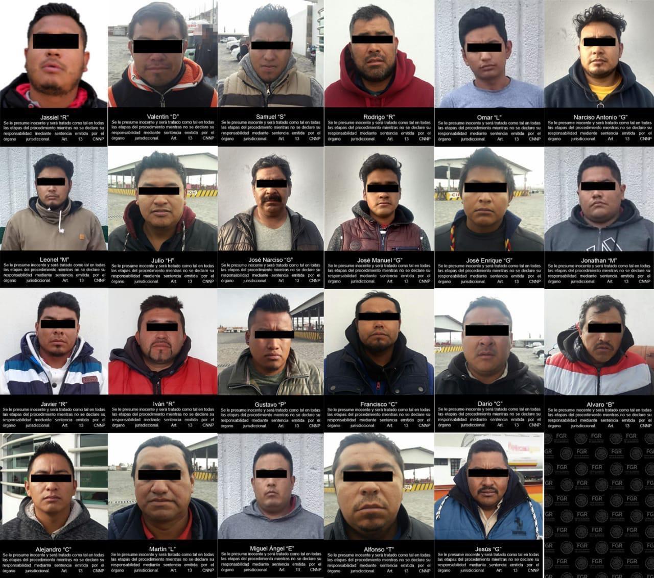 23 detenidos robo gas LP Puebla