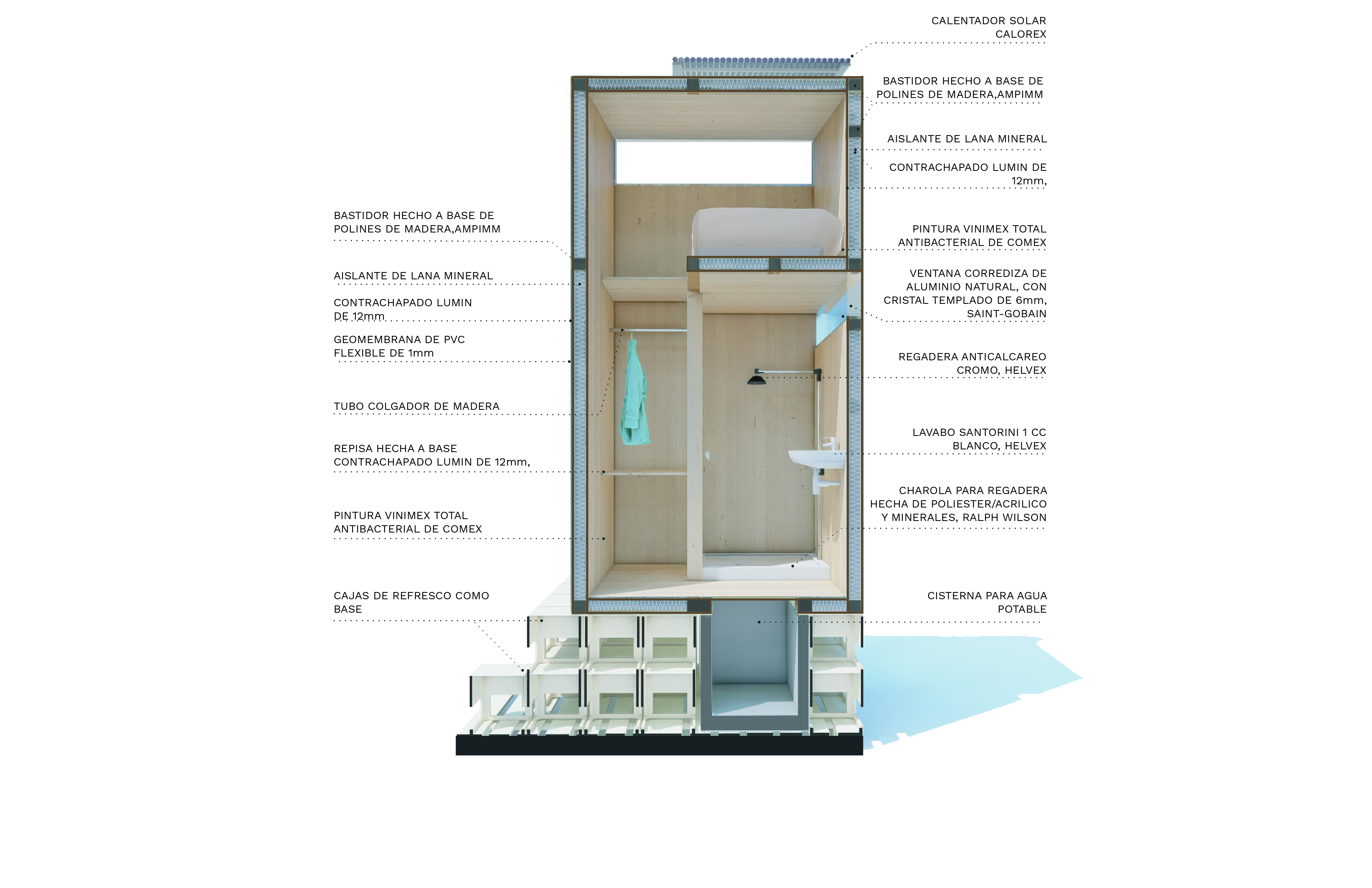 Dormitorio reciclable
