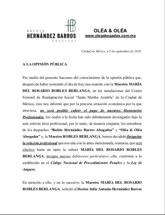 Abogados Rosario Robles