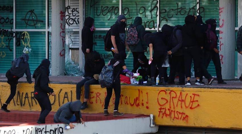 UNAM actos vandálicos