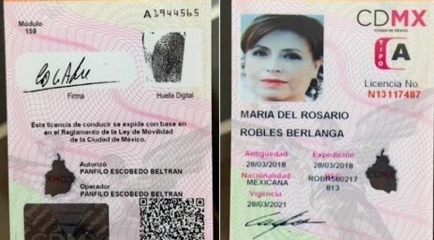 Licencia Rosario Robles