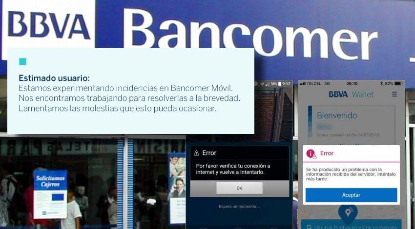 Reporta Bancomer fallas en su aplicación móvil