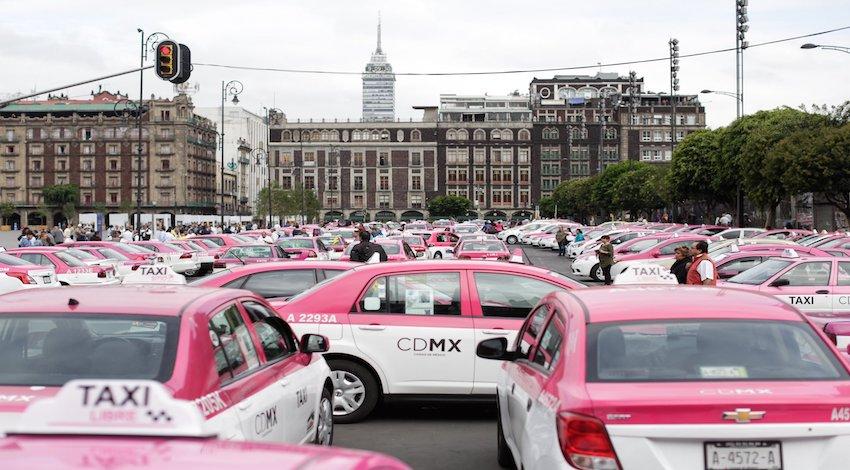 Taxistas manifestación