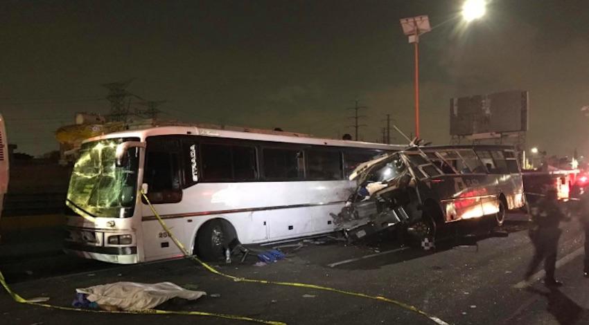 Choque autobuses