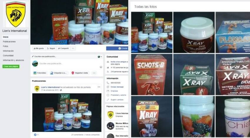 Alerta Cofepris sobre venta ilegal de productos Lion's International por Facebook