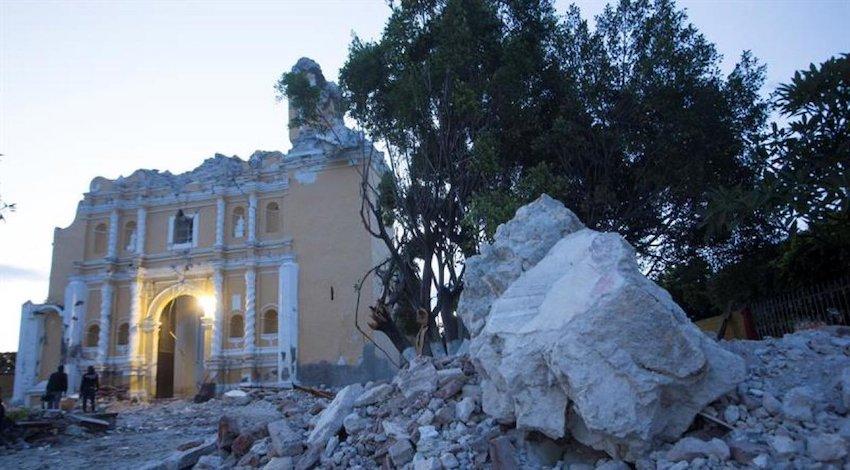 Iglesias dañadas por terremoto