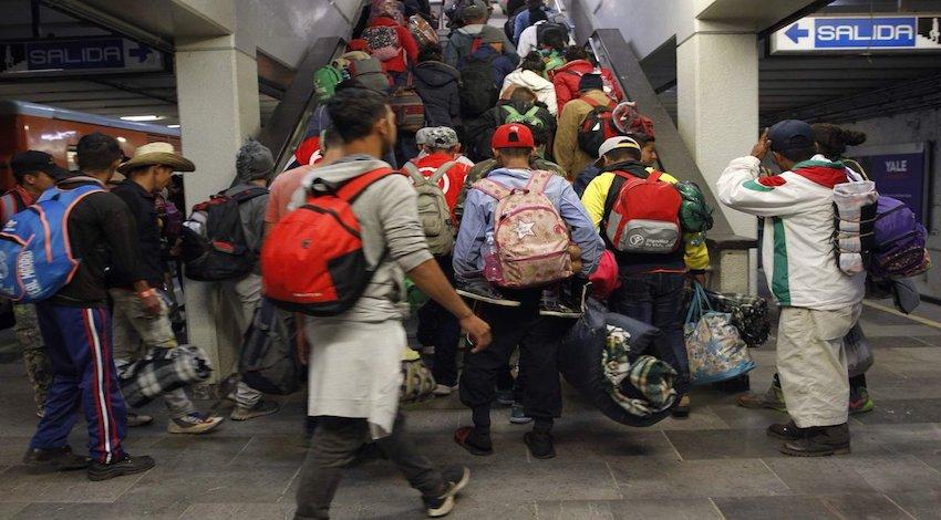 Caravana Migrante en Metro CDMX