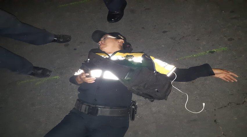 Mujer policía agredida por conductor de BMW