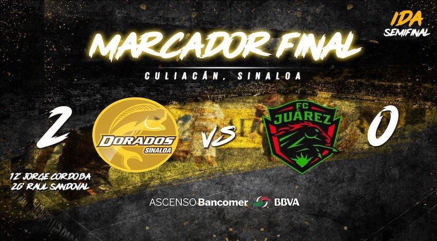 Dorados 2 FC Juárez 0