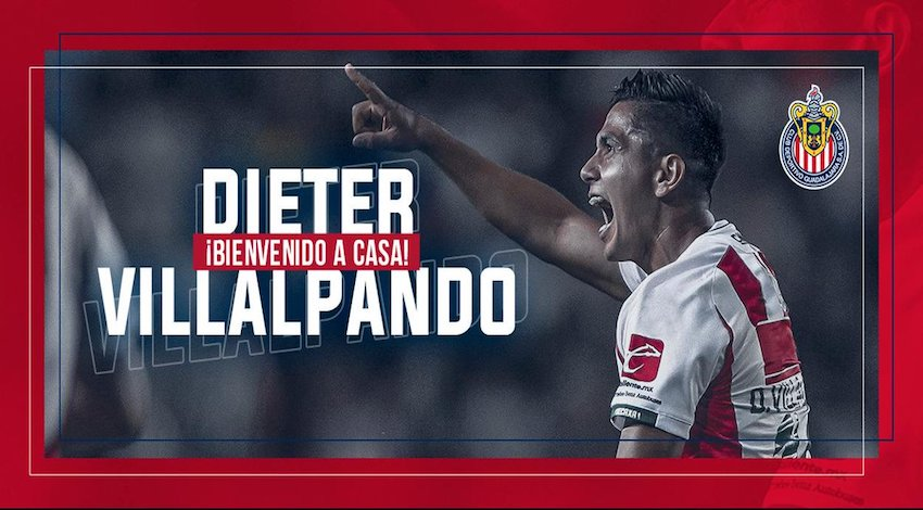 Llega a Chivas Dieter Villalpando