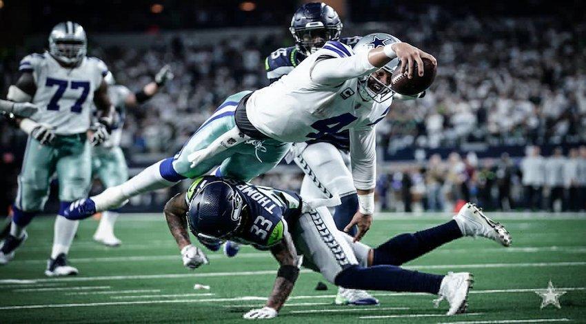 Dallas gana duelo de comodines a Seattle