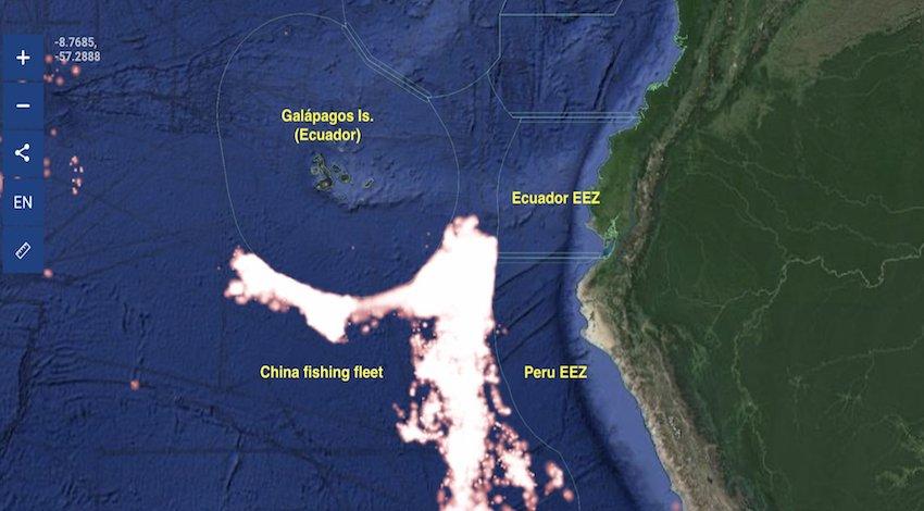 Piratas chinos Galápagos