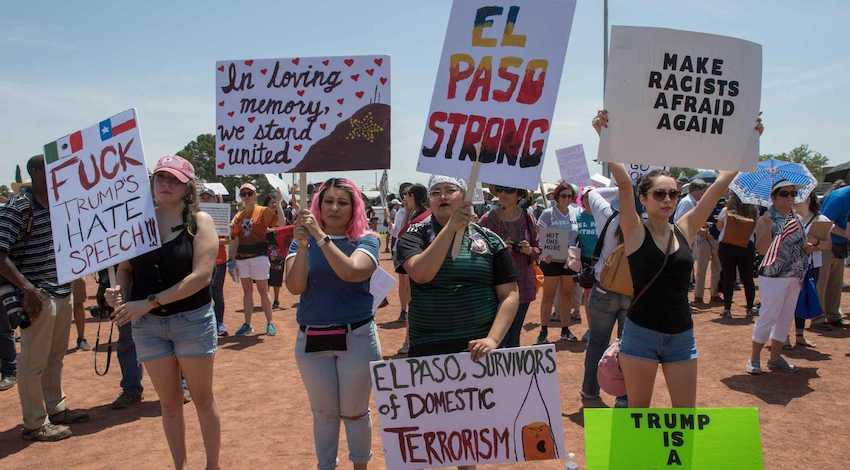 Protestas El Paso contra Trump