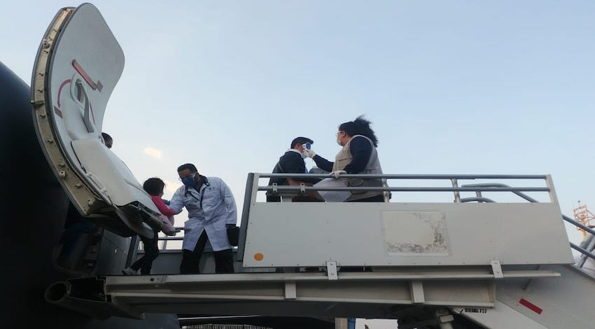 Mexicanos procedentes de La Habana