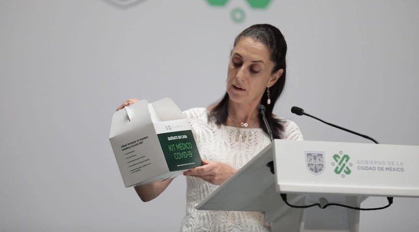 Claudia Sheinbaum policías Covid-19