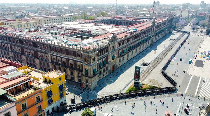 Vallas en Palacio Nacional