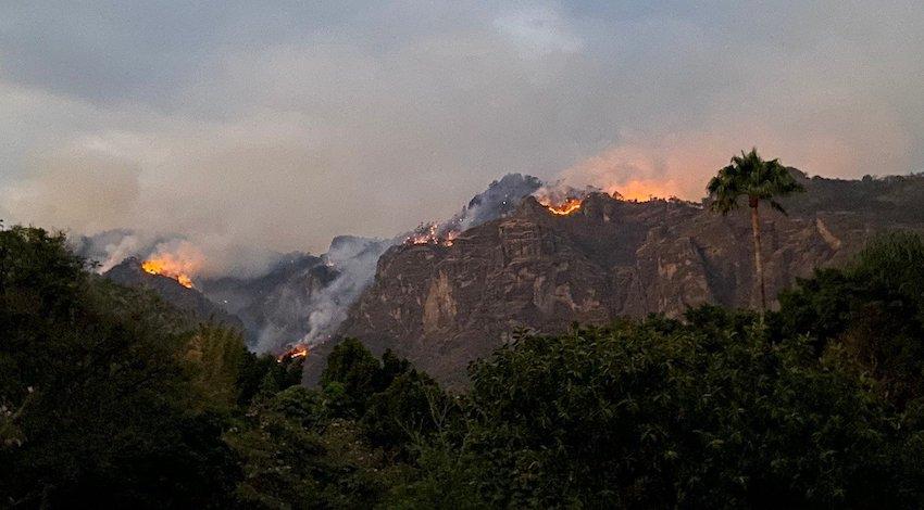 Incendio Forestal Parque Nacional El Tepozteco