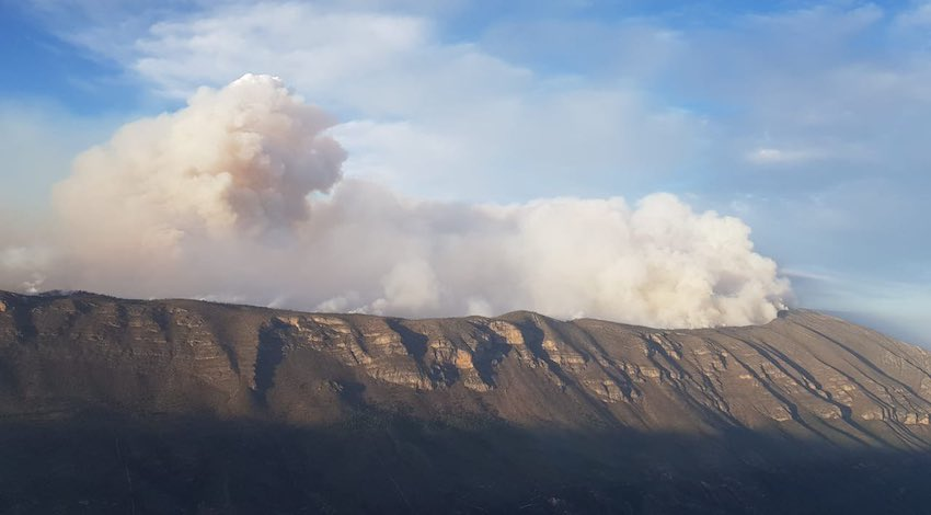 Incendio forestal Santiago