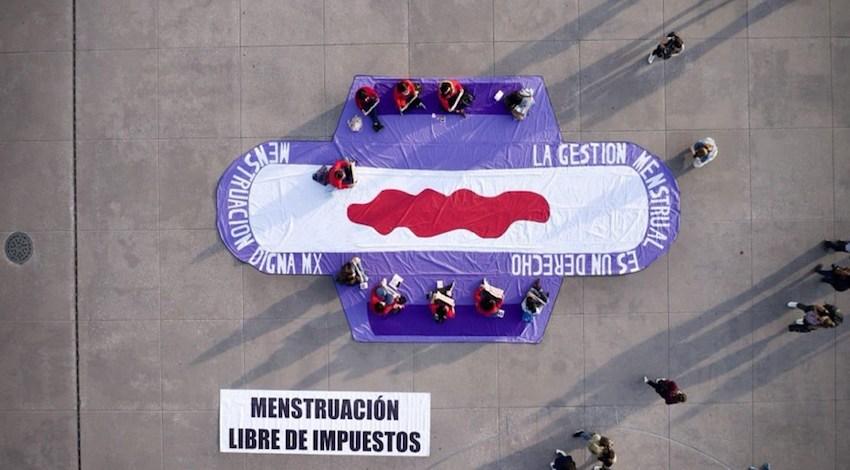 Manifestación  menstruación libre de impuestos