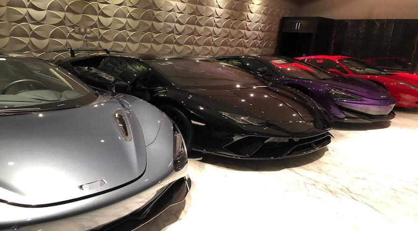 Autos de súper lujo asegurados en Guanajuato
