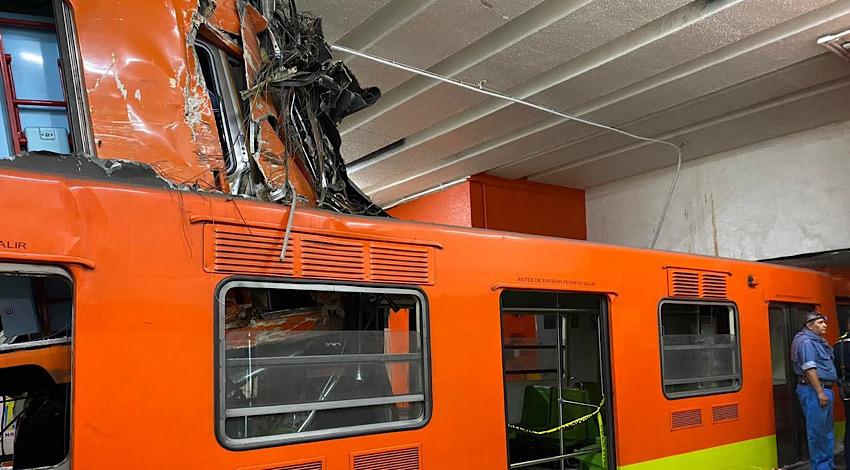 Choque de trenes Metro Tacubaya
