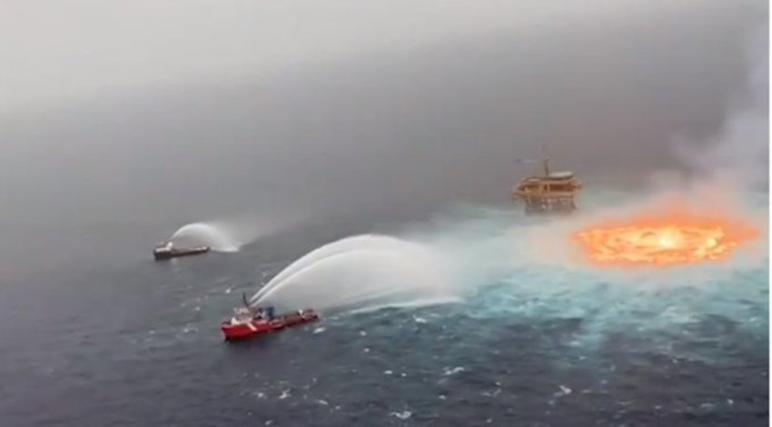 Incendio Golfo de México
