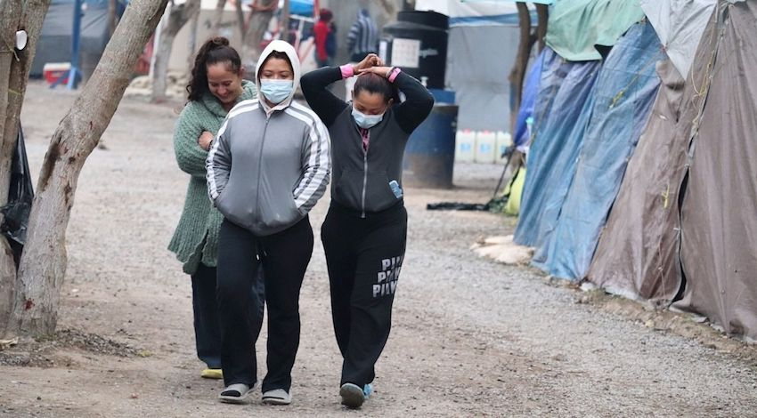Migrantes campamento Matamoros, Tamaulipas