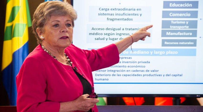 Alicia Barcena, secretaria ejecutiva de la CEPAL