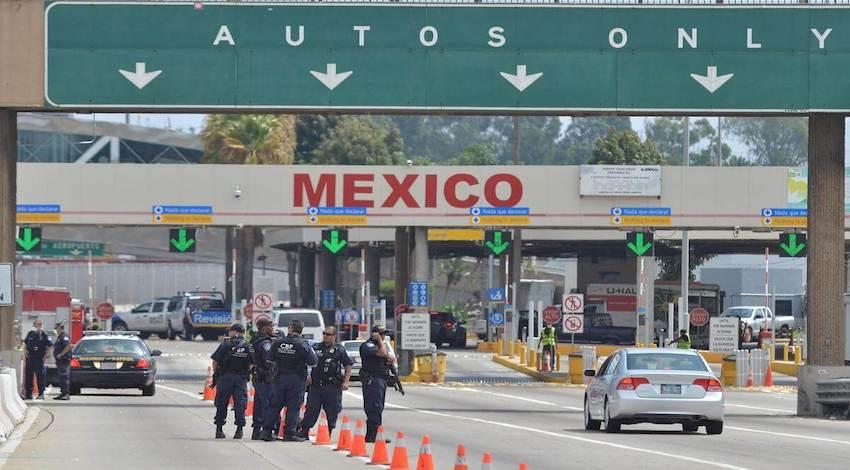 Frontera terrestre EUA México