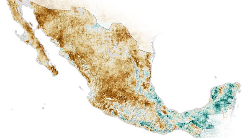 Mapa Estrés Hídrico