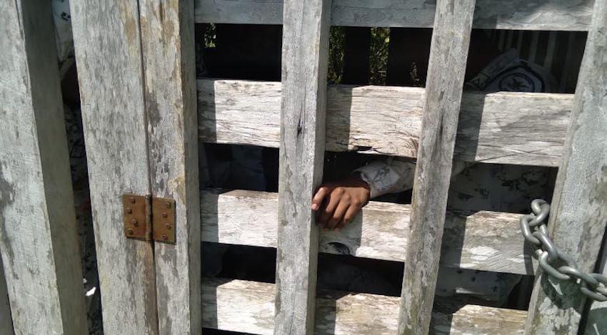 Agentes detenidos en Frontera Corozal, Chiapas